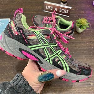 ASICS Gel Venture Neon Pink & Green Sneakers S 10